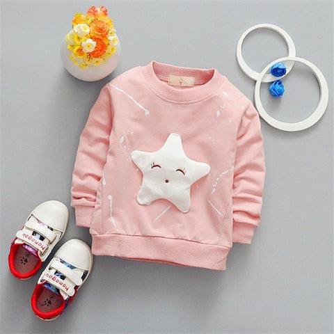 Banner Star Long Sleeve T Shirt - FKF Fashion