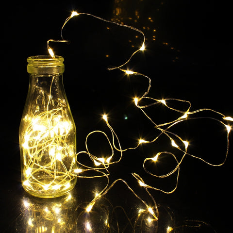 1/2/5/10M 10-100 LEDs Christmas Garland Copper Wire LED String Lamp Fairy lights For Indoor New Year Xmas Wedding Decoration - FKF Fashion
