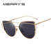 Cat Eye Twin-Beams Sunglasses Coating Mirror Flat Panel Lens S'7882 - FKF Fashion