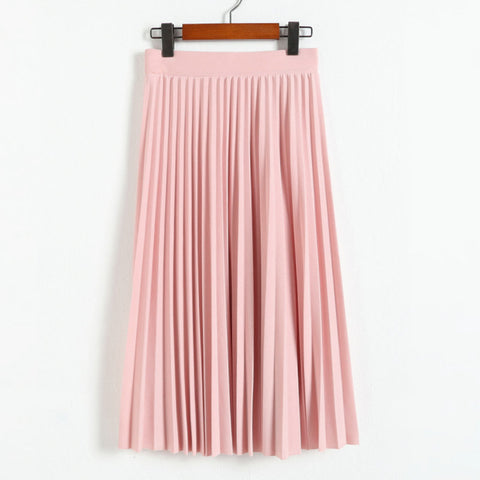 Spring all-match chiffon slim pleated skirt