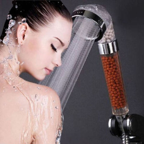 SHOWER HEAD High Turbo Pressure Bathroom Softens Ionic Filtration Water Saving K
