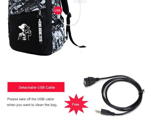 Waterproof Large Backpack With USB Port