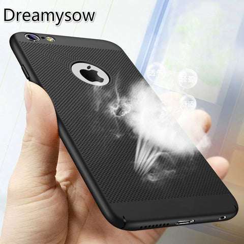 Hollow Heat Dissipation Hard PC for iPhone X 10 8 7 6 XS max XR 6S Plus 5S SE Phone Case Matte Protective Cover Coque
