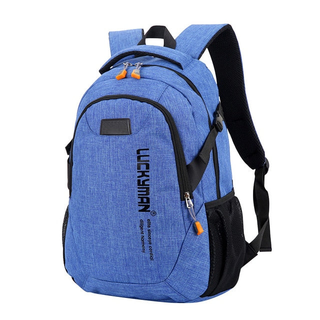 Unisex School Bag For Teenagers Laptop Backpacks Men Travel Bags Large Capacity
