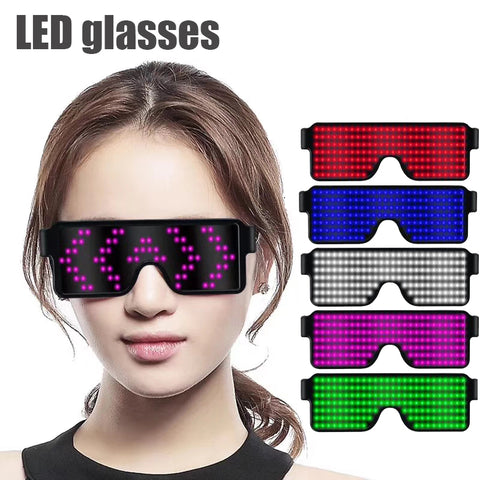 Luminous 8 Modes Quick Flash Led USB Charge Party Glasses