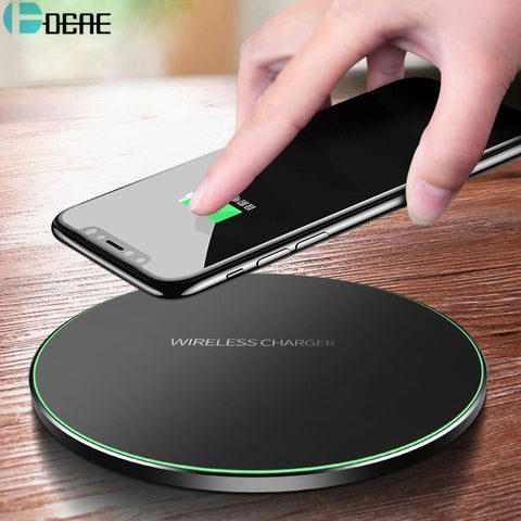 Qi Wireless Charger For iPhone 8 X XR XS Max QC3.0 10W Fast Wireless Charging for Samsung S9 S8 Note 8 9 S7 USB Charger Pad