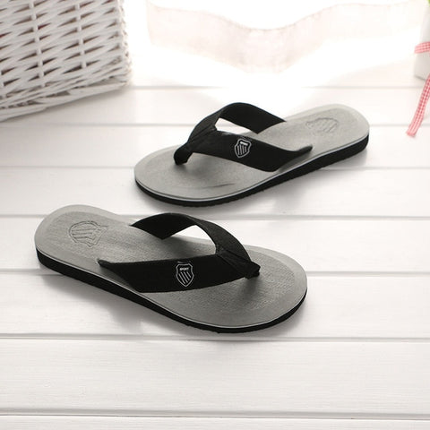 New Arrival Summer Men Flip Flops High Quality Beach Sandals Anti-slip Zapatos Hombre Casual Slippers