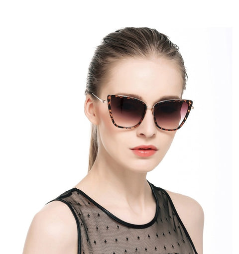Stylish Big Cat Eye Sunglasses - FKF Fashion