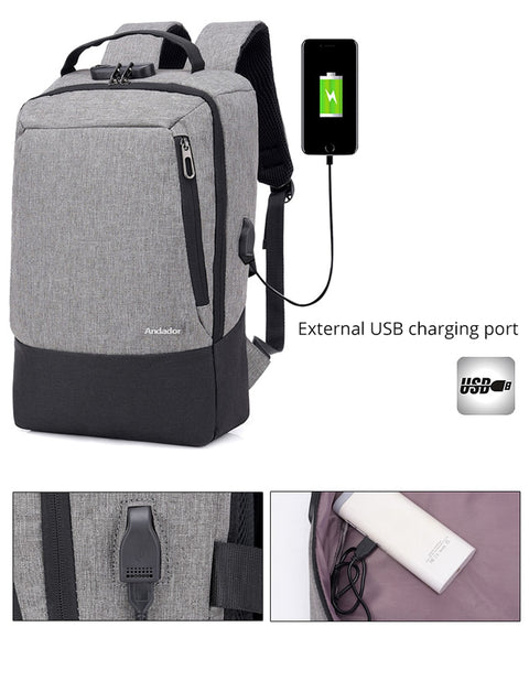 The Original Anti Theft USB charging Backpack Larger Capaticy Laptop Multifunctional Bag