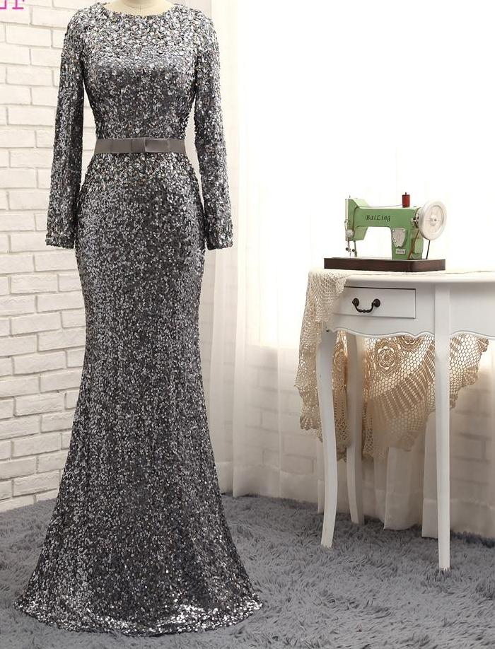 Stunning Sparkling Long Gown