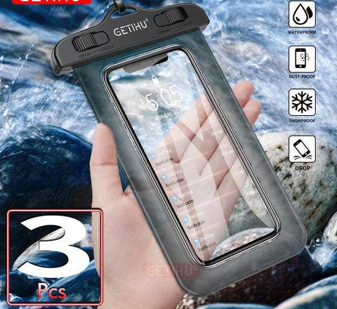 Universal Waterproof Bag Pouch Phone Case For iPhone XS Max XR X 8 7 6 Plus Samsung S8 Note 8 For Huawei Water Proof Case