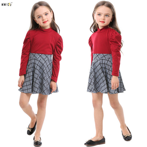 Trendy Top & Plaid Skirt For 3 to 8 Years - FKF Fashion