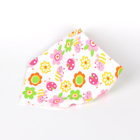 High Quality Baby Bibs Double Layers 100% Organic Cotton Infant  Absorbent Bandana