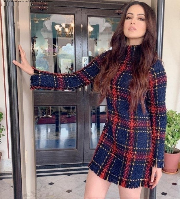 2019 Spring Plaid Mini Bodycon Dress - FKF Fashion