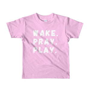 Wake. Pray. Play. // Kid's Tee