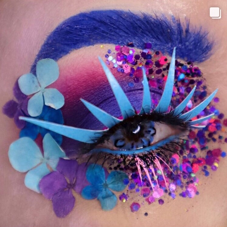 Blue UV Reactive Lashes