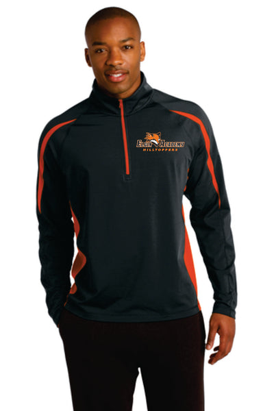 Performance 1/4 Zip Pullover - Adult - Black/Orange