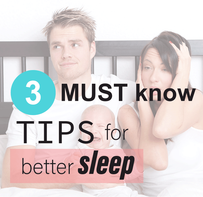 3 Must-know tips for better newborn sleep!