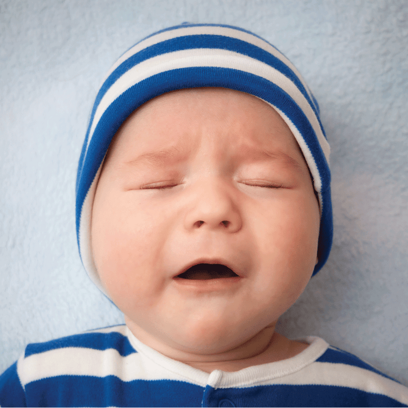 Why babies cry in their sleep?
