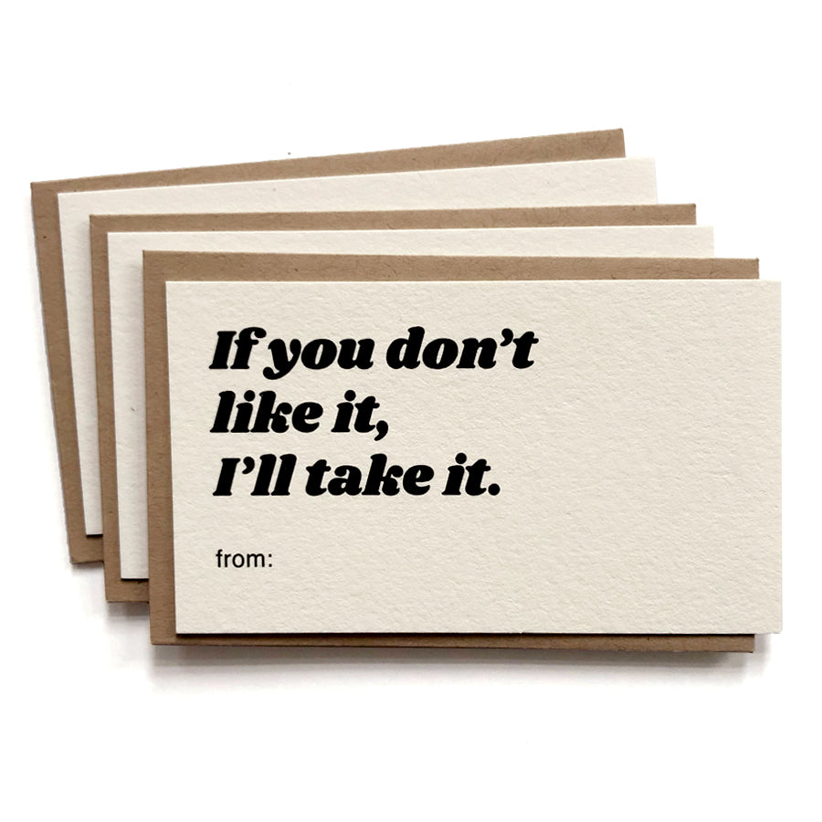 Gift Tags, If You Don't Like It