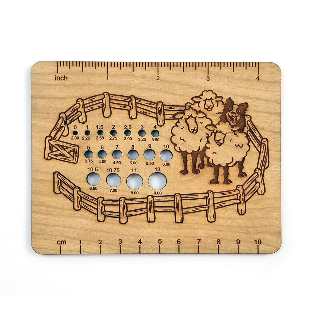 Fiber Flock Needle Gauge Ruler