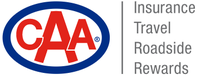 """Logo - Shop with CAA – Insurance, travel, roadside, rewards"