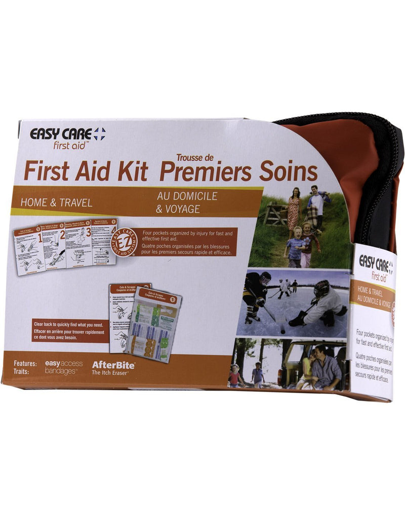 Easy care home & travel first aid kit right side corner view