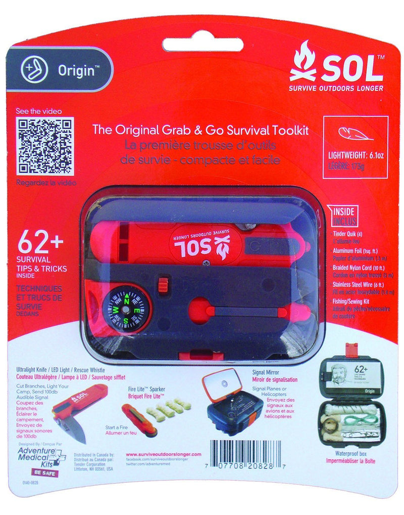 SOL origin survival toolkit package back view