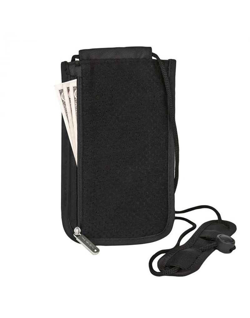 Travelon RFID blocking deluxe boarding pouch front view