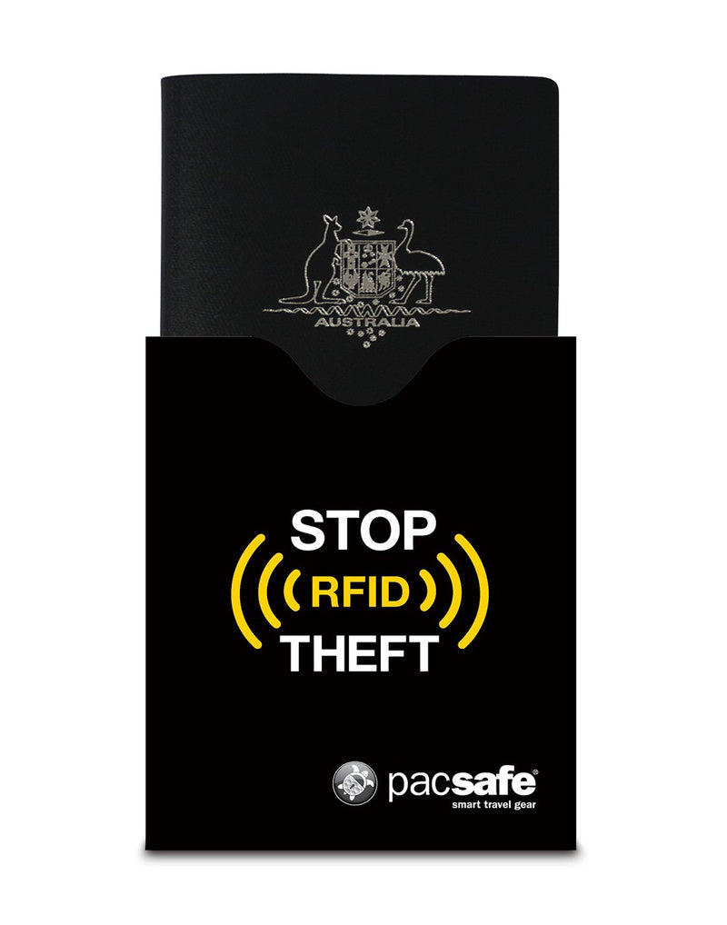 Pacsafe RFIDsleeve 50 passport protector using for carry passport