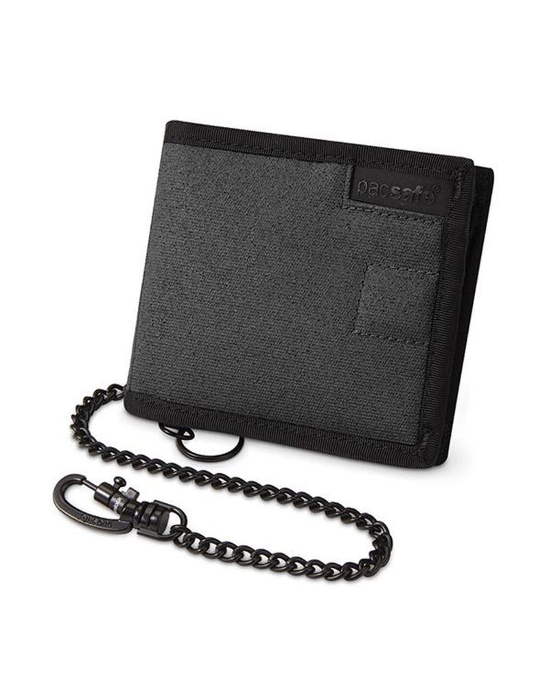 Pacsafe RFIDsafe Z100 Bi-fold wallet - black back view