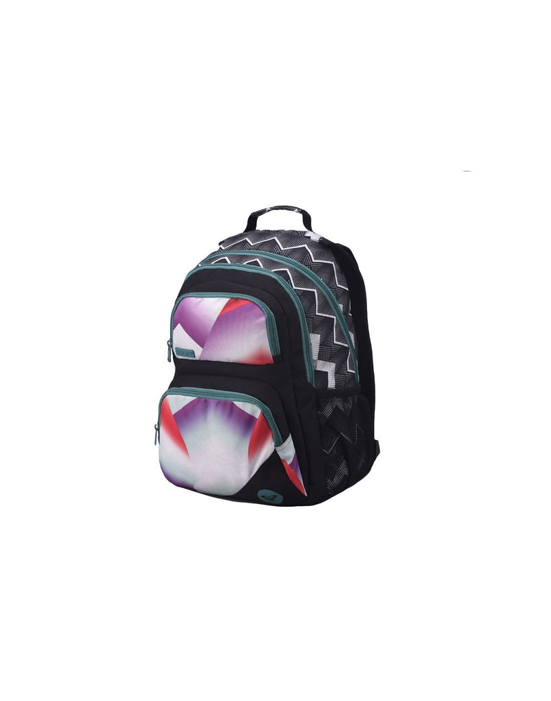 Roxy shadow dream backpack optic black colour corner view
