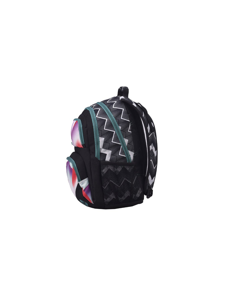 Roxy shadow dream backpack optic black colour side view