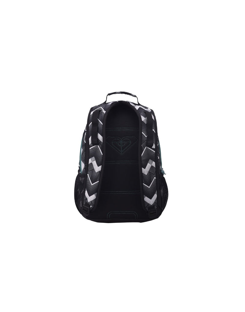 Roxy shadow dream backpack optic black colour back view