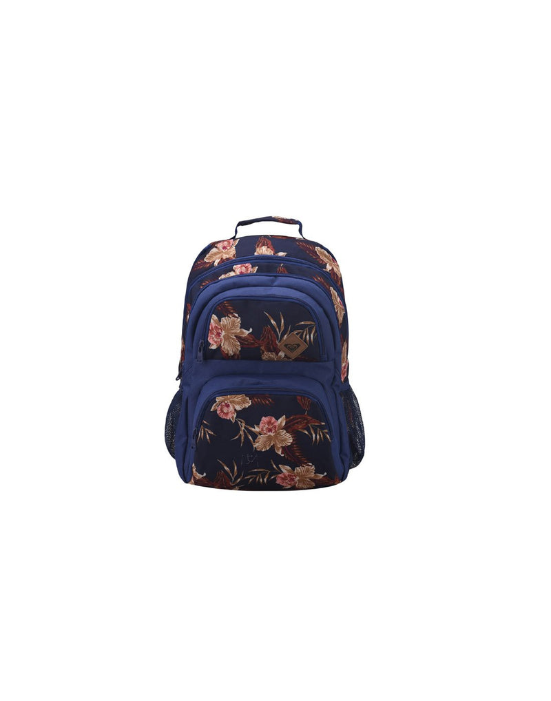 Roxy shadow dream backpack castaway blue colour front view
