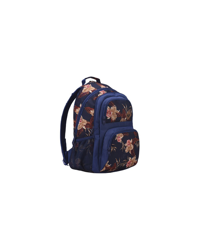 Roxy shadow dream backpack castaway blue colour corner view