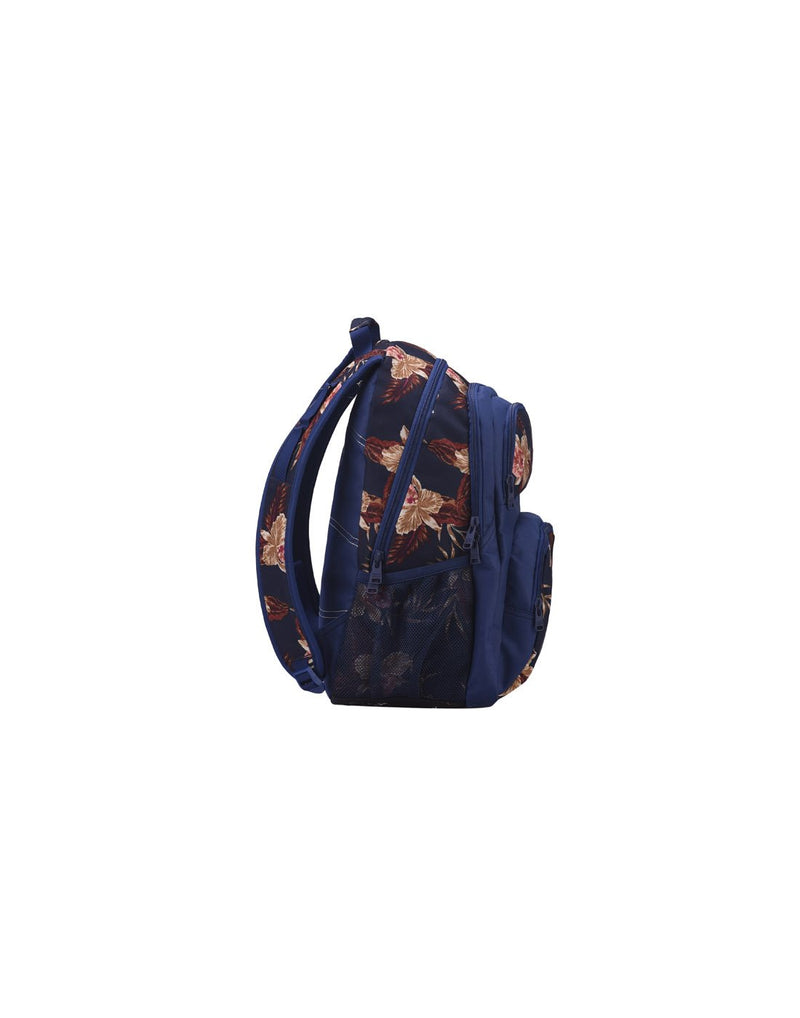 Roxy shadow dream backpack castaway blue colour side view