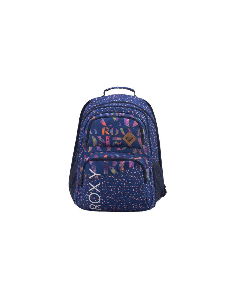 Roxy shadow dream backpack dotsy colour front view