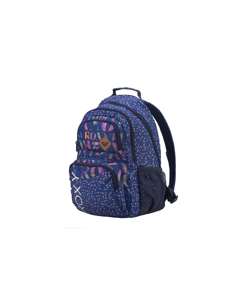 Roxy shadow dream backpack dotsy colour corner view
