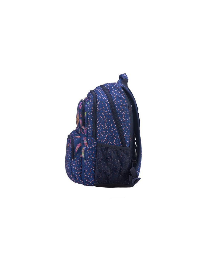 Roxy shadow dream backpack dotsy colour side view