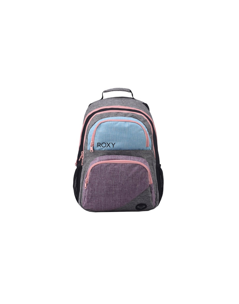 Roxy shadow dream backpack heather grey colour front view