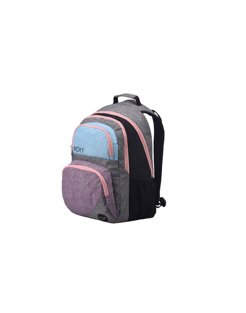Roxy shadow dream backpack heather grey colour corner view