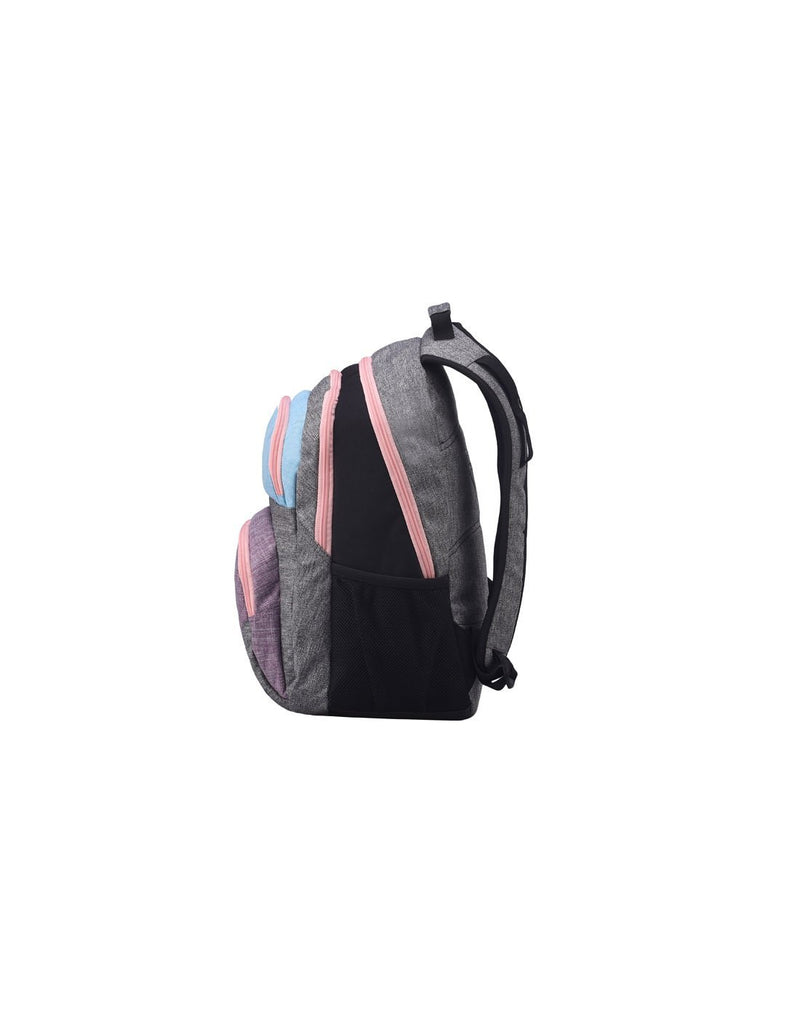 Roxy shadow dream backpack heather grey colour side view