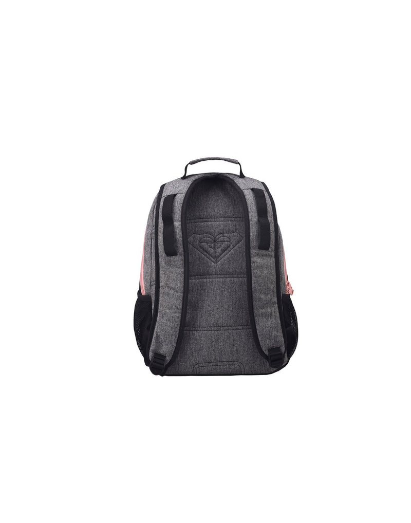 Roxy shadow dream backpack heather grey colour back view