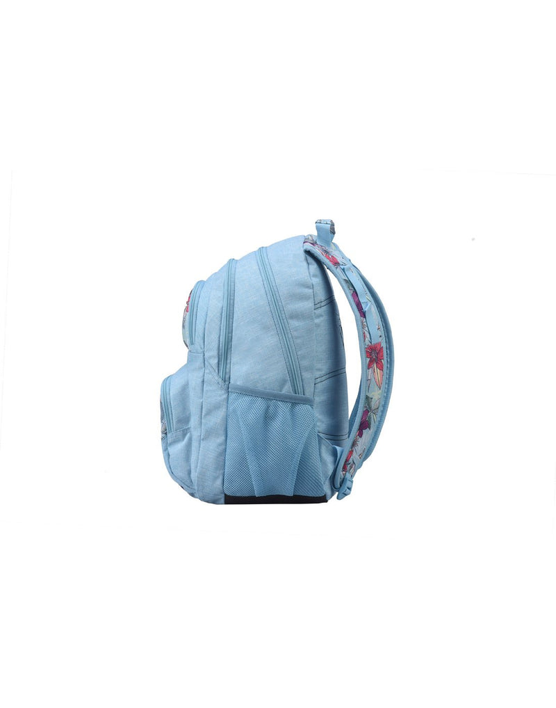 Roxy shadow dream backpack hawaiian colour side view