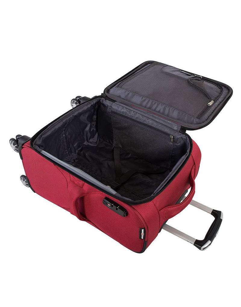 "Swiss gear neolite 3 19"" carry-on spinner luggage bag interior view"