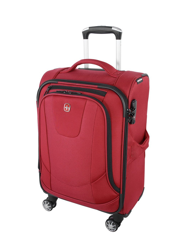 "Swiss gear neolite 3 19"" carry-on spinner luggage bag front view"