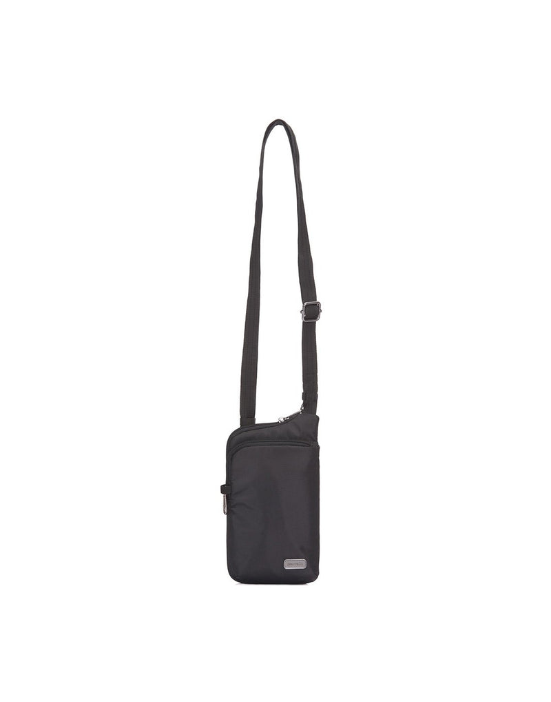 Pacsafe daysafe anti-theft tech black colour crossbody bag front view