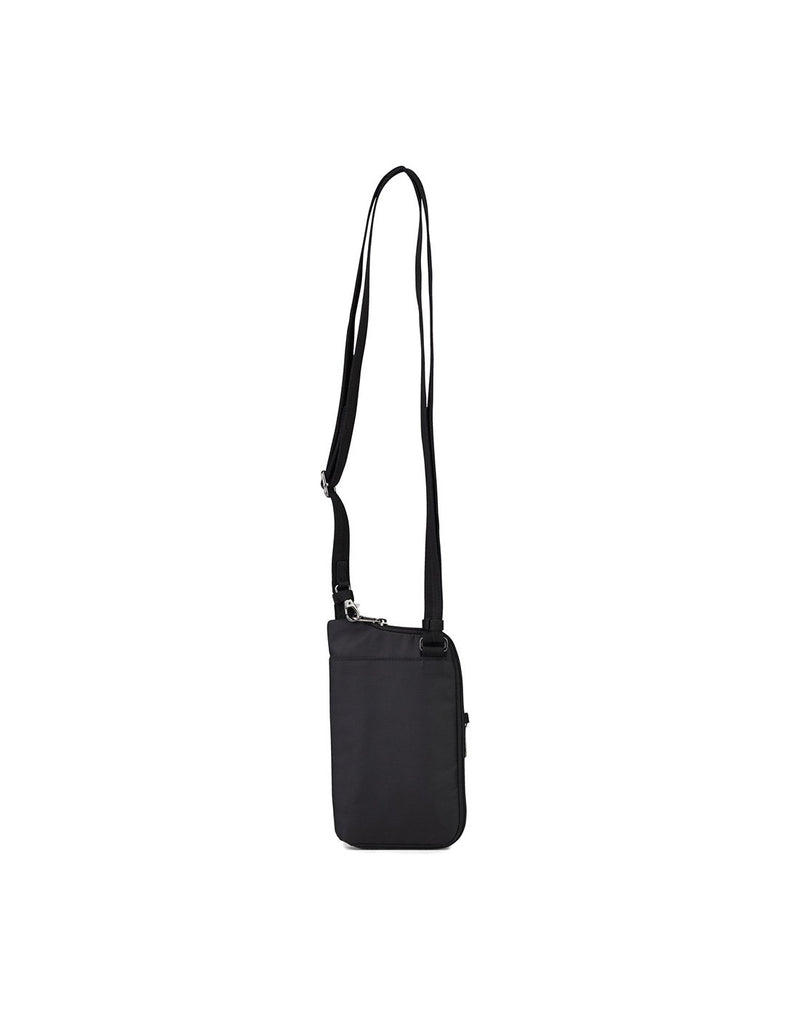 Pacsafe daysafe anti-theft tech black colour crossbody bag back view