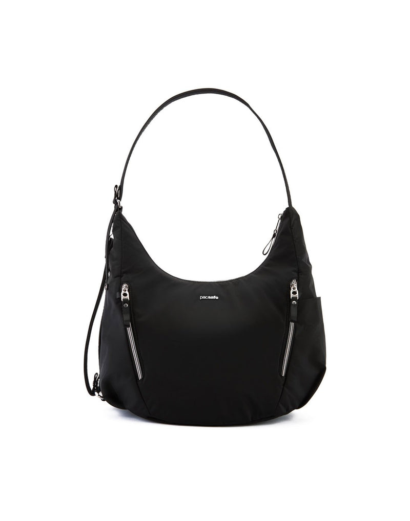 Pacsafe stylesafe anti-theft convertible black colour crossbody bag front view